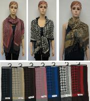 Pashmina with Fringe [Houndstooth]